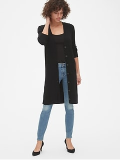 True Soft Ribbed Duster Cardigan Sweater