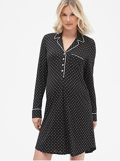 Maternity Print Sleep Shirt