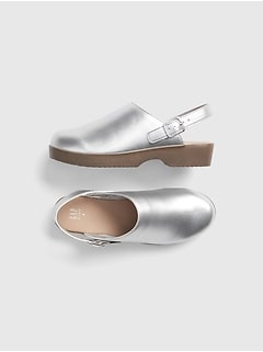 Kids Metallic Clogs