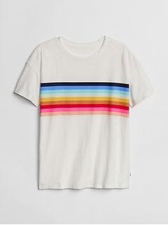 Chest-Stripe Short Sleeve T-Shirt