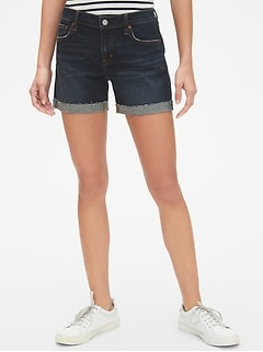 "Mid Rise 5"" Denim Shorts"