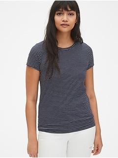 Vintage Wash Stripe Crewneck T-Shirt
