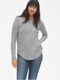 Softspun Long Sleeve Stripe Tunic Top