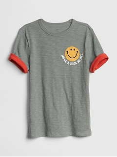 Roll-Sleeve Graphic T-Shirt
