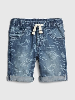 Shark Roll-Up Shorts
