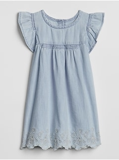 Denim Flutter Dress