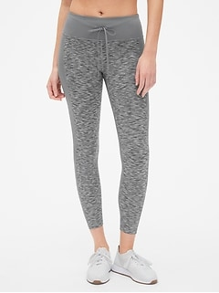 GapFit Blackout Drawstring Spacedye Full Length Leggings