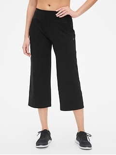 GapFit Studio Wide-Leg Crop Pants in Eclipse