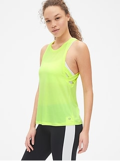GapFit Breathe Criss-Cross Muscle Tank Top
