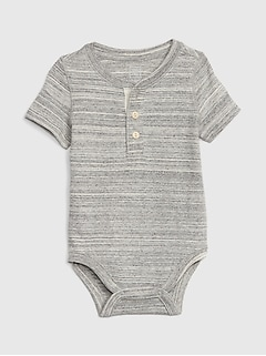 Baby Henley Short Sleeve Bodysuit