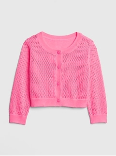 Baby Pointelle Cardigan Sweater