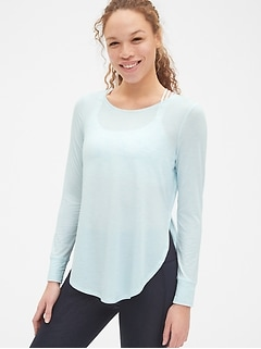 GapFit Breathe Long Sleeve Hi-Lo Tunic