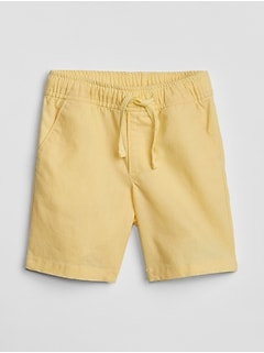 Pull-On Shorts in Linen