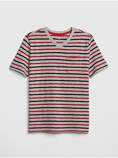Kids Stripe V-Neck T-Shirt