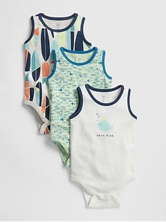 Baby Fish Surf Tank Bodysuit (3-Pack)