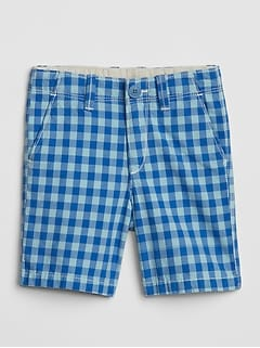 Plaid Khaki Shorts