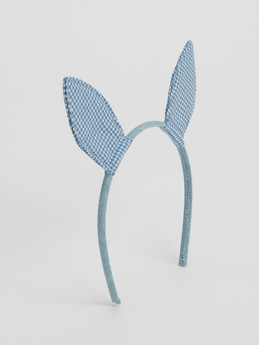 Toddler Gingham Bunny Headband