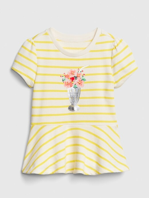 Toddler Graphic Peplum T-Shirt