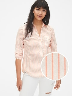 Fitted Boyfriend Stripe Shirt