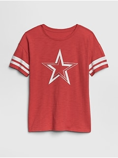 Kids Graphic Rugby-Stripe Tunic T-Shirt