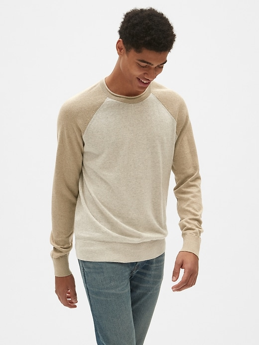 Gap Men's Crewneck Pullover Sweater in Linen-Cotton (4 color options)