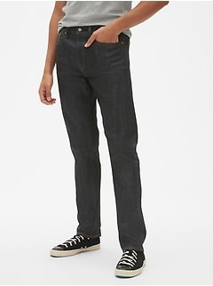 Selvedge Athletic Jeans with GapFlex