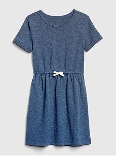 Kids Marled Cinched-Waist Dress