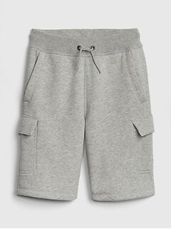 Kids Pull-On Cargo Shorts in Fleece
