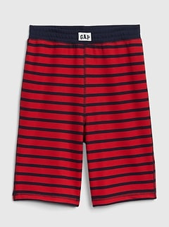 Kids Stripe Pj Shorts In French Terry