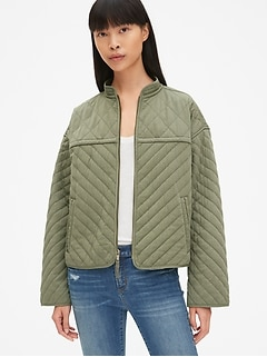 Quilted Zip-Front Jacket
