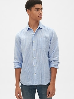 Linen-Cotton Shirt in Standard Fit