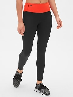 GapFit High Rise Blackout Colorblock Full Length Leggings