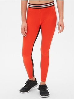 GapFit Blackout Stripe Colorblock Full Length Leggings