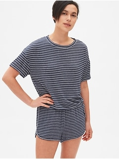 a41439e1e18 ... Women s Sleepwear Sale · Softspun Stripe Roll-Sleeve T-Shirt