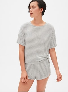 ca144011de8 Softspun Stripe Roll-Sleeve T-Shirt