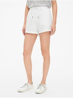"3.5"" Drawstring Shorts in Linen-Cotton"