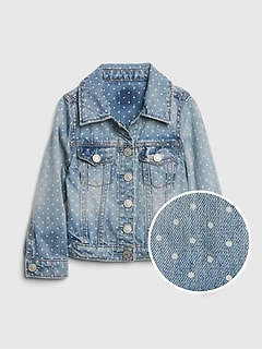 Toddler Icon Dot Denim Jacket