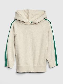 Toddler Stripe-Sleeve Hoodie Sweatshirt