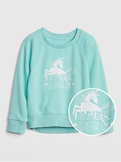 Toddler Crackle-Print Graphic Sweatshirt