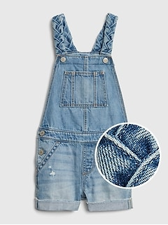 Toddler Braided Short Overalls
