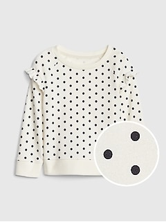 Toddler Dot Ruffle Sweatshirt