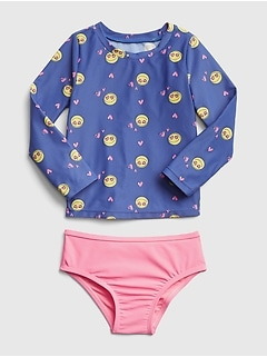 Emoji Rashguard Two-Piece