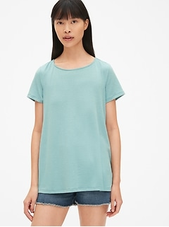 Softspun Short Sleeve Open-Back Top