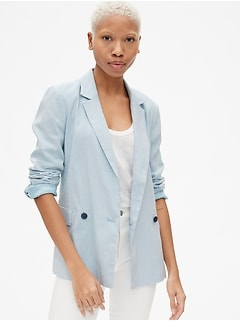 Classic Girlfriend Blazer in Linen
