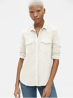 Denim Western Shirt in Color