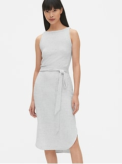 Softspun Sleeveless Tie-Belt Midi Dress