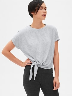 GapFit Breathe Dolman Sleeve Side-Tie T-Shirt
