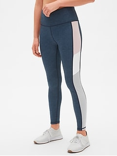 GapFit High Rise Blackout Side Colorblock Full Length Leggings