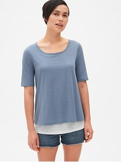 Maternity Double-Layer Nursing T-Shirt