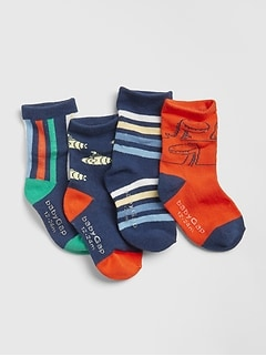 Toddler Graphic Stripe Crew Socks